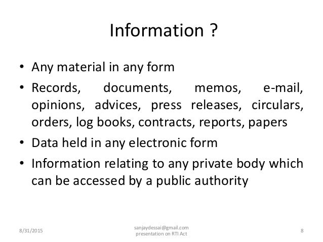 essay on right to information act 2005 The right to information act (rti), passed in 2005, put that power into the hands  of india's 12 billion citizens, creating an information.