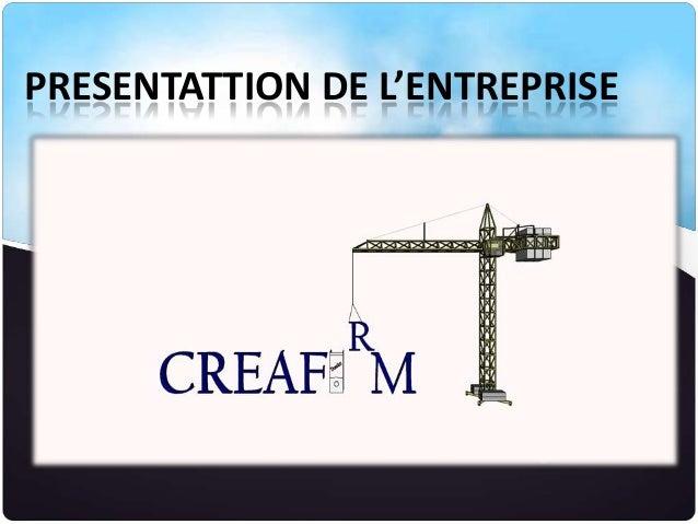 PRESENTATTION DE L'ENTREPRISE