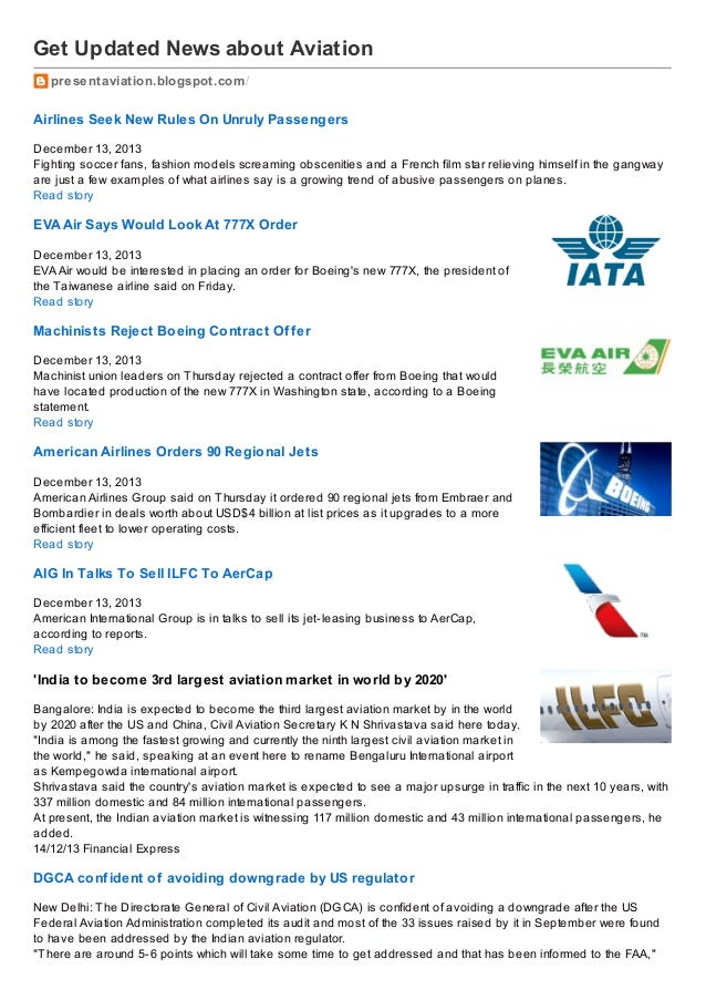 Get Updated News about Aviation presentaviation.blogspot.com /  Airlines Seek New Rules On Unruly Passengers December 13, ...