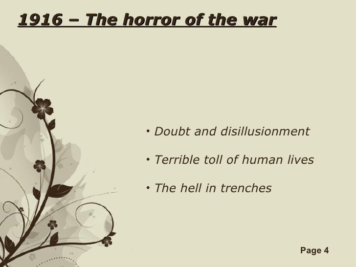 Warpoetsungaretti free powerpoint templates page 3 4 1916 the horror toneelgroepblik Images