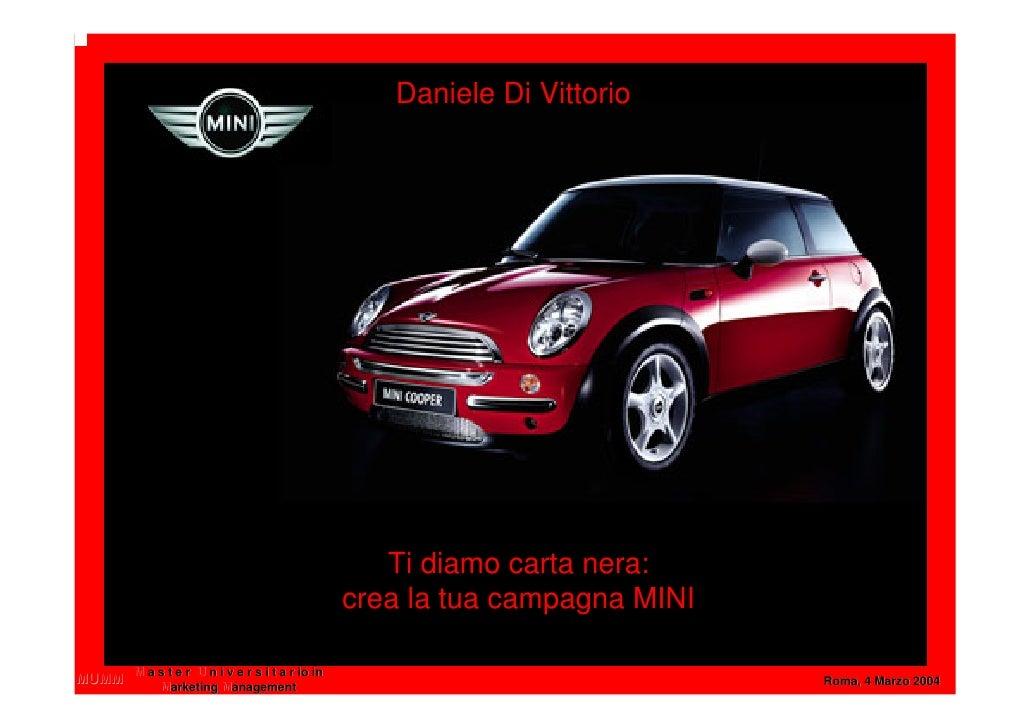 Daniele Di Vittorio                                                       Ti diamo carta nera:                            ...