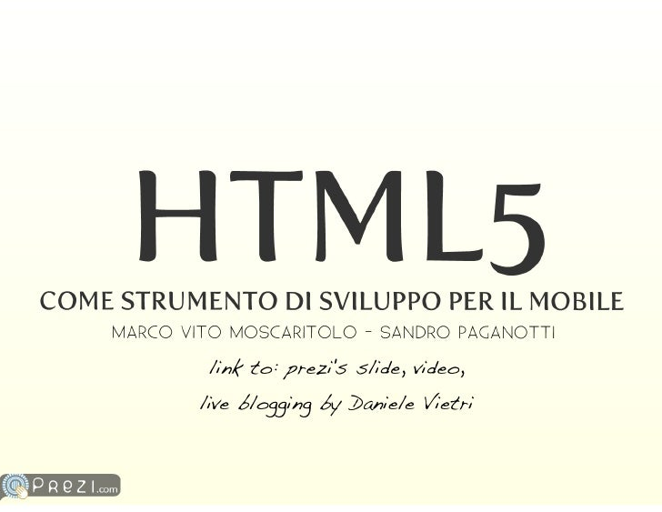 link to: prezi's slide, video, live blogging by Daniele Vietri