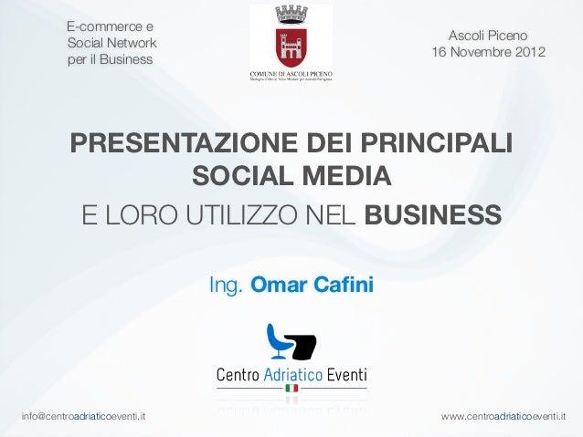 E-commerce e                                                     Ascoli Piceno          Social Network                    ...