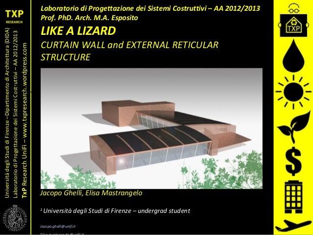 UniversitàdegliStudidiFirenze–DipartimentodiArchitettura(DIDA) LaboratoriodiProgettazionedeiSistemiCostruttivi–AA2012/2013...