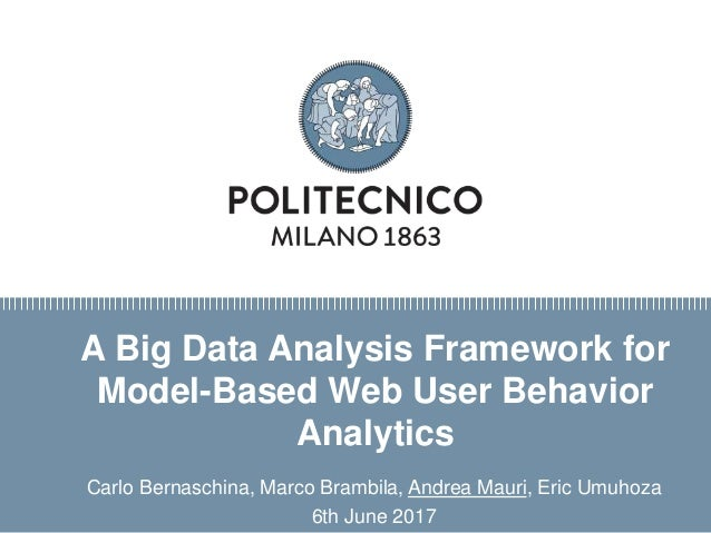 Titolo presentazione sottotitolo Milano, XX mese 20XX A Big Data Analysis Framework for Model-Based Web User Behavior Anal...
