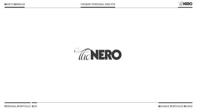 Marco Grimaldi - Behance Portfolio Review - 2013