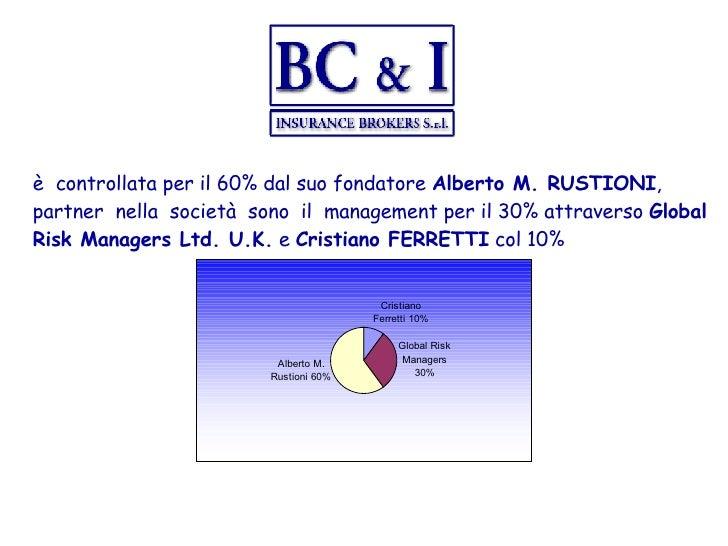 è  controllata per il 60% dal suo fondatore  Alberto M. RUSTIONI , partner  nella  società  sono  il  management per il 30...