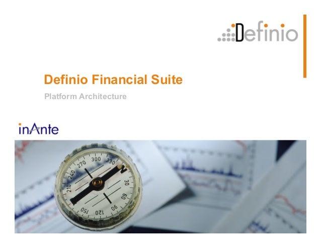 Definio Financial Suite Platform Architecture