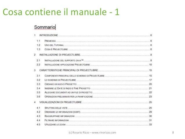 Cosa contiene il manuale - 1  (c) Rosario Rizzo – www.rinorizzo.com  8