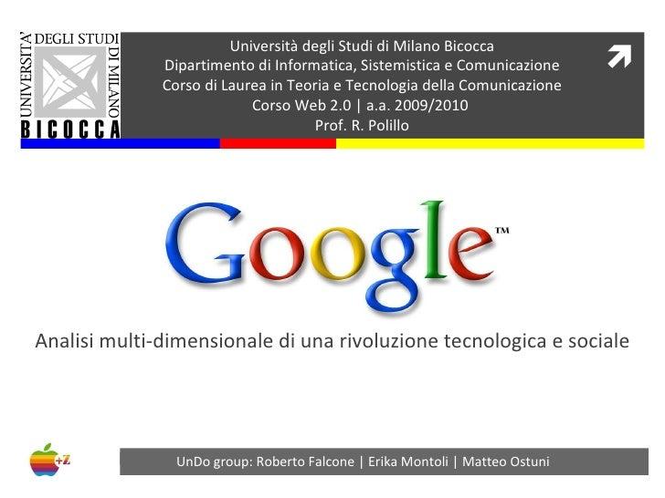 Università degli Studi di Milano Bicocca Dipartimento di Informatica, Sistemistica e Comunicazione Corso di Laurea in Teor...