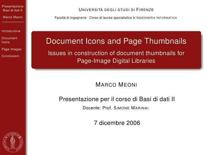 Presentazione  Basi di dati II                    U NIVERSITÀ DEGLI STUDI DI F IRENZE Marco Meoni          Facoltà di Inge...