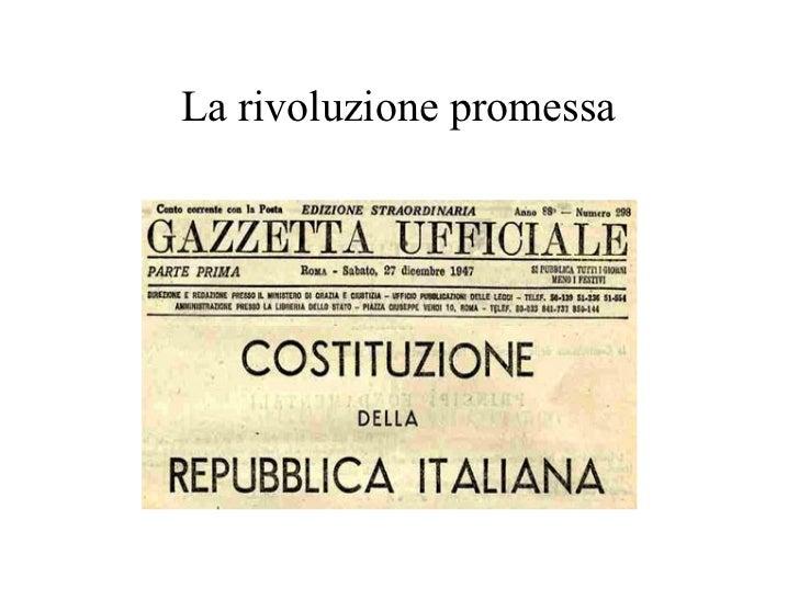 La rivoluzione promessa