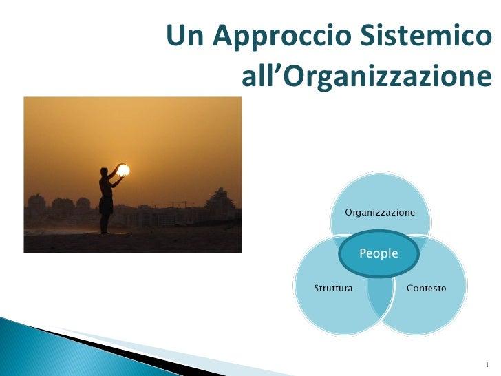 People Un Approccio Sistemico all'Organizzazione