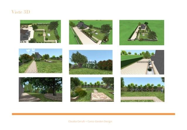 Presentazione privato claudia cerulli progetto giardino privato per - Progetto giardino privato ...