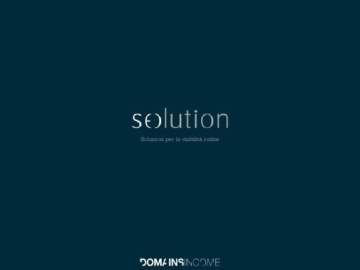 Soluzioni per la visibilità online