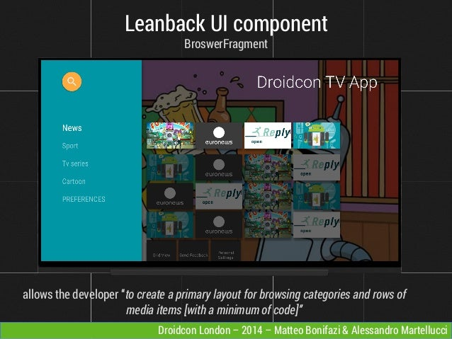 Video Streaming: from the native Android player to uncoventional devi…