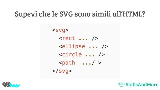 Sapevi che le SVG sono simili all'HTML?