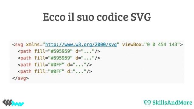 Ecco il suo codice SVG