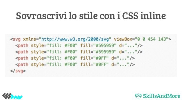 Sovrascrivi lo stile con i CSS inline