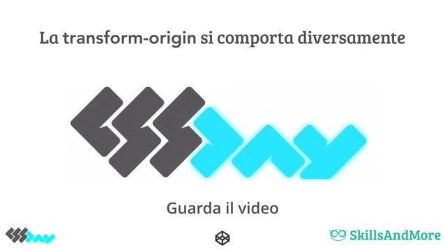La transform-origin si comporta diversamente Guarda il video