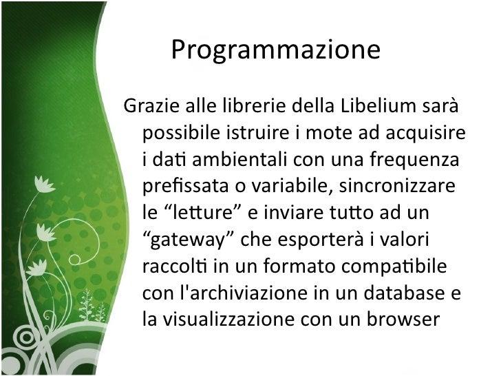 Monitoraggio ambientale a basso costo 2 for Librerie a basso costo