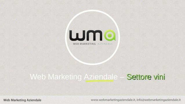 Web Marketing Aziendale – Settore vini