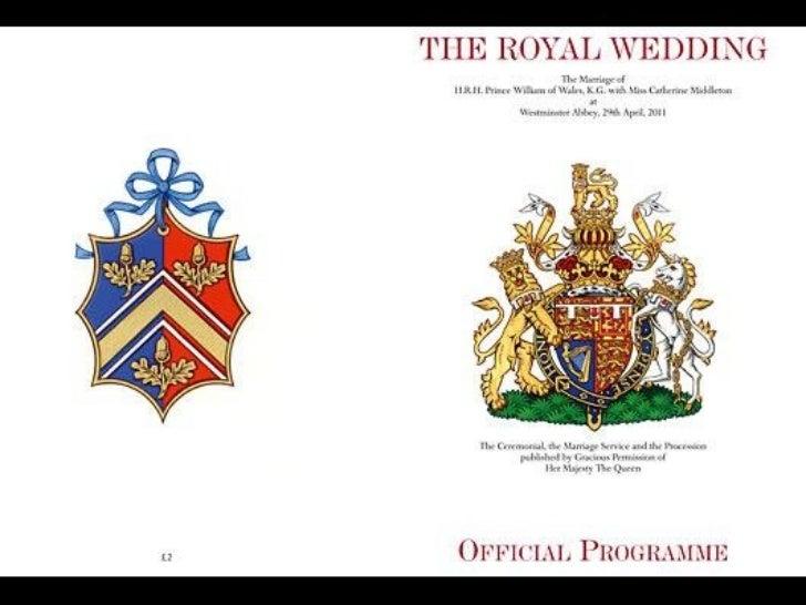 William & Kate - Timetable's Royal Wedding
