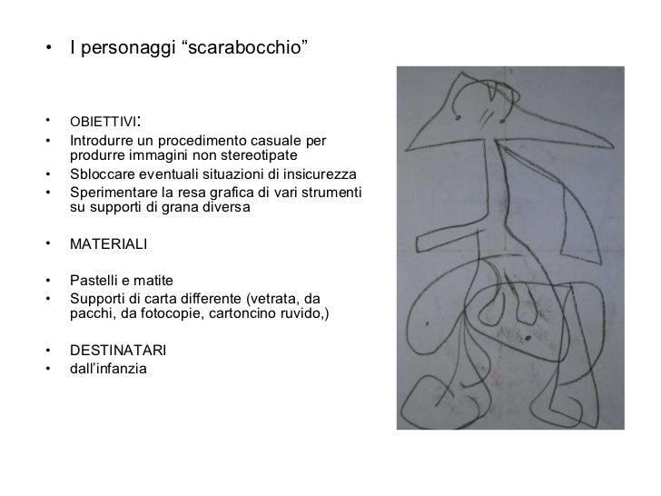 "<ul><li>I personaggi ""scarabocchio"" </li></ul><ul><li>OBIETTIVI :  </li></ul><ul><li>Introdurre un procedimento casuale pe..."