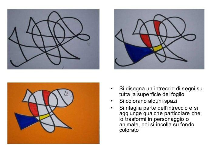 <ul><li>Si disegna un intreccio di segni su tutta la superficie del foglio </li></ul><ul><li>Si colorano alcuni spazi  </l...