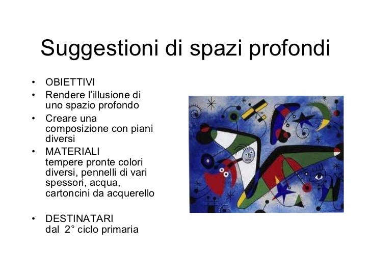 Suggestioni di spazi profondi <ul><li>OBIETTIVI </li></ul><ul><li>Rendere l'illusione di uno spazio profondo </li></ul><ul...