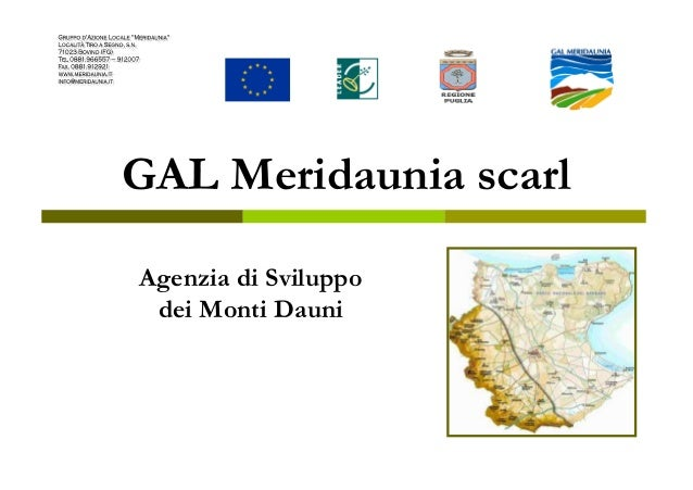GAL Meridaunia scarl Agenzia di Sviluppo dei Monti Dauni