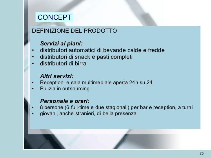esempio di business plan distributori automatici