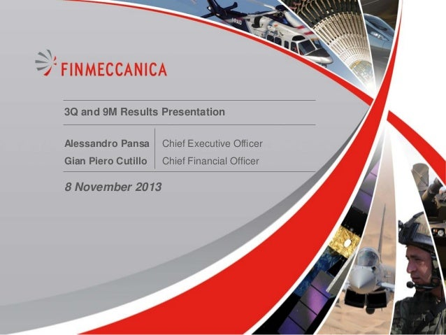 3Q and 9M Results Presentation Alessandro Pansa  Chief Executive Officer  Gian Piero Cutillo  Chief Financial Officer  8 N...
