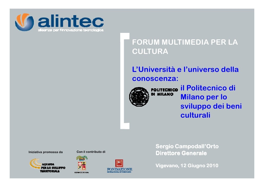 FORUM MULTIMEDIA PER LA                                                 CULTURA                                           ...