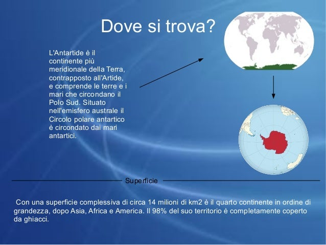 Presentazione antartide for Arredo ingross 3 dove si trova