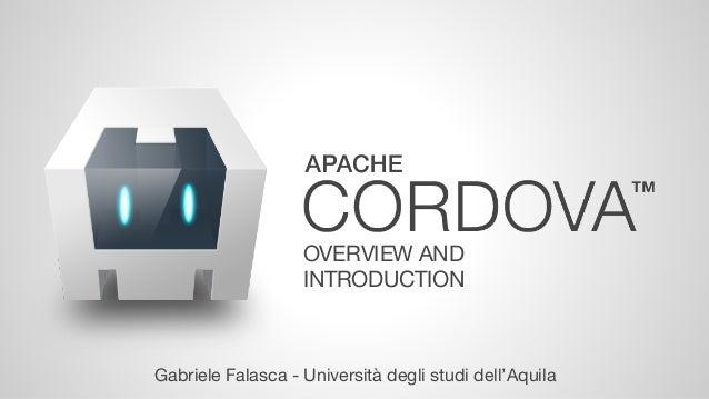 OVERVIEW AND  INTRODUCTION  Gabriele Falasca - Università degli studi dell'Aquila