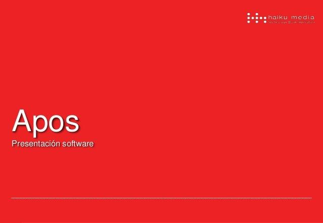 Apos  Presentación software
