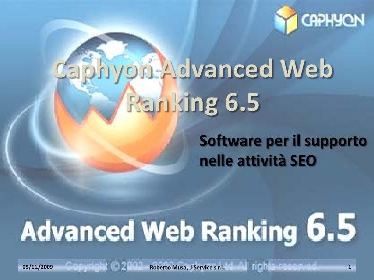 Caphyon Advanced Web               Ranking 6.5                    Software per il supporto                    nelle attivi...