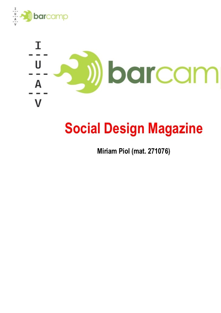 Social Design Magazine     Miriam Piol (mat. 271076)