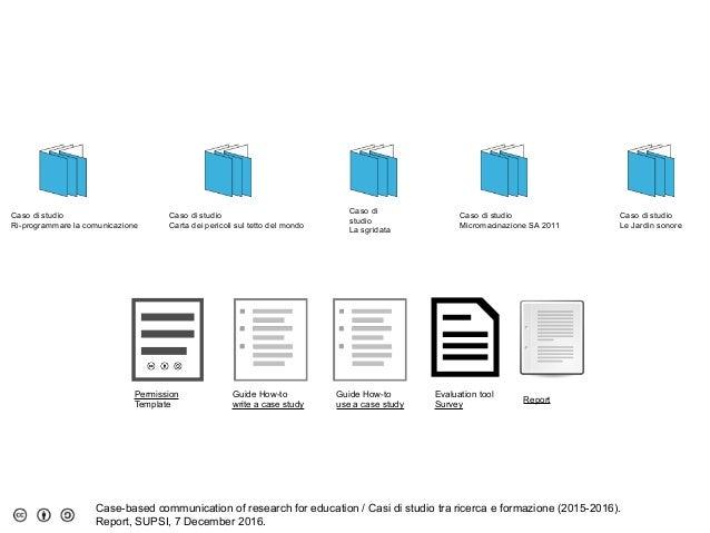 Report Casi di studio tra ricerca e formazione 2016
