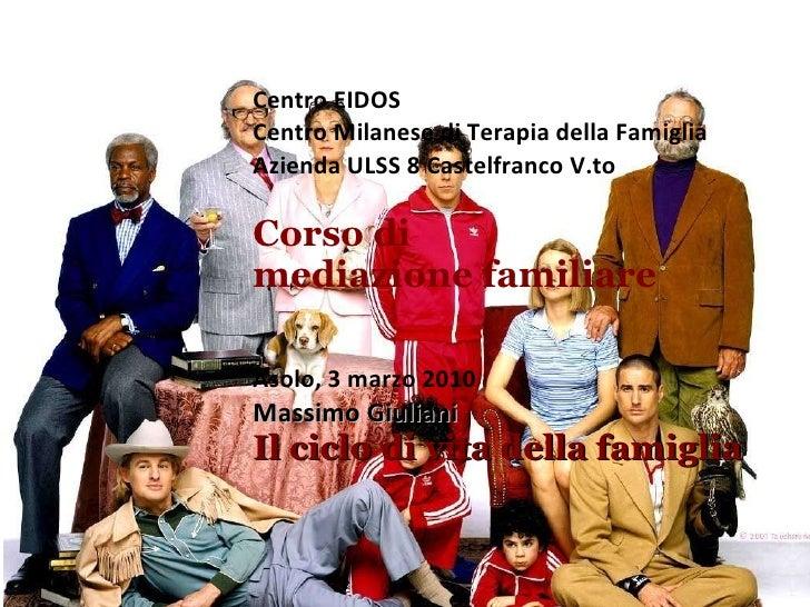 Centro EIDOS Centro Milanese di Terapia della Famiglia Azienda ULSS 8 Castelfranco V.to Corso di mediazione familiare Asol...