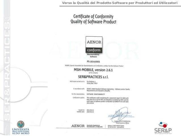 Verso la Qualità del Prodotto Software per Produttori ed Utilizzatori 21