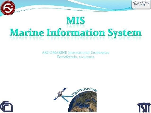 ARGOMARINE International Conference                Portoferraio, 21/11/2012                                     ...