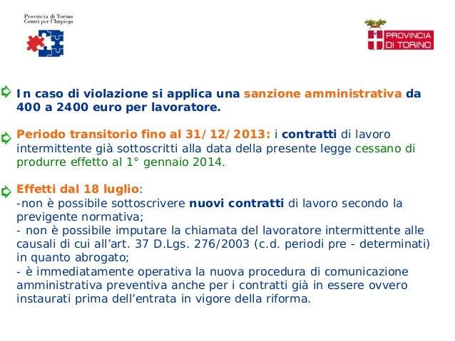 CONTRATTO DI LAVORO INTERMITTENTE; 47.