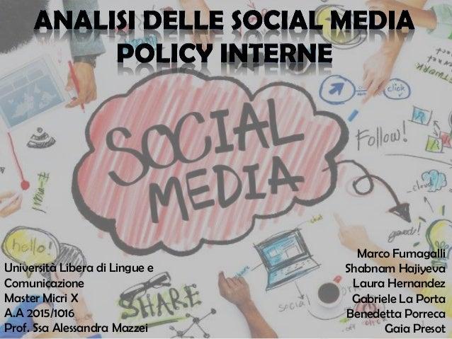 1 Università Libera di Lingue e Comunicazione Master Micri X A.A 2015/1016 Prof. Ssa Alessandra Mazzei Marco Fumagalli Sha...