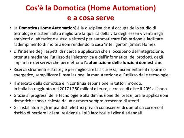 Presentazione corso Domotica Slide 2