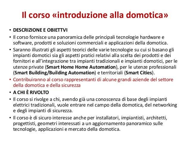 Presentazione corso Domotica Slide 3