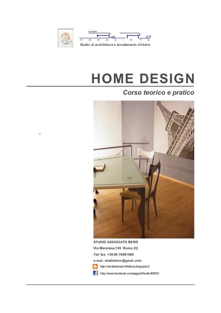 Studio di architettura e arredamento dinterni       HOME DESIGN                                Corso teorico e pratico    ...