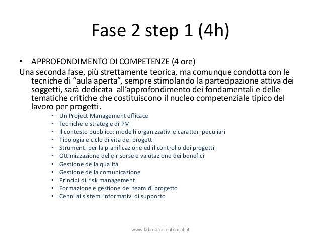 Fase 2 step 1 (4h) • APPROFONDIMENTO DI COMPETENZE (4 ore) Una seconda fase, più strettamente teorica, ma comunque condott...