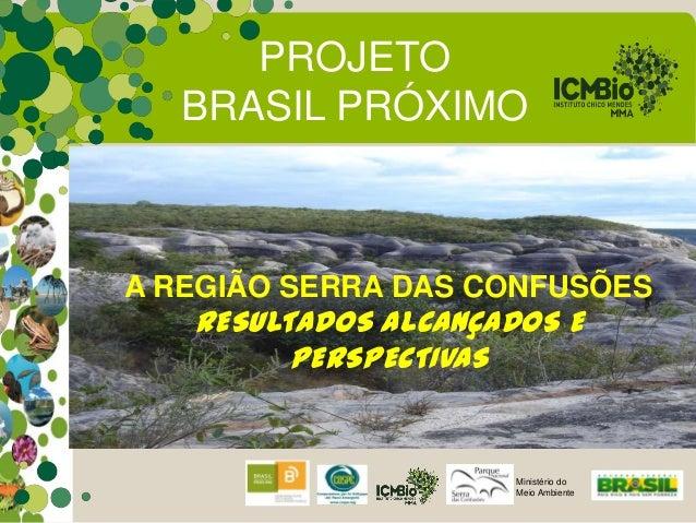 PROJETO   BRASIL PRÓXIMOA REGIÃO SERRA DAS CONFUSÕES   RESULTADOS ALCANÇADOS E         PERSPECTIVAS                      M...